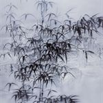 Wang Fu·The Image of the Ink Bamboo  Oil on Canvas 400x200cm 2008