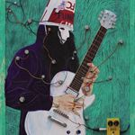 Zheng Wei  Guitarist -1  Mixed Materials  85×65cm  2011