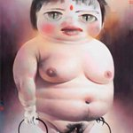 Fat Girl No.1   227x181cm Oil on Canvas 2005.7