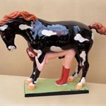 lizhanyang-The dream of horse and a girl(small) colored fiberglass 54x34x15cm 2002
