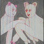 Lv Xiao 2008 No.19 Acrylic and Marker on Canvas 76x55cm 2008