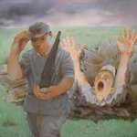 Imagination on the Red Army Marching Through the Grassland No.3 Oil on Canvas 120x150 2003