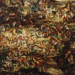 A Great Migration of Life  Oil on Canvas 149x139cm 1999
