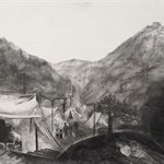 The South Mountain     Paper  Charcoal  79x109cm  2006