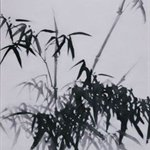 Li Shan Bamboo in the Wind Oil on Canvas  350x120cm  2006