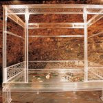 Marriage Bed    Plexiglas,Water,Lotuses,Butterflies,Gold fish   237×254×330cm   2001