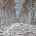 chenweiming-Snowy Road Oil on Canvas 130x97cm 1993