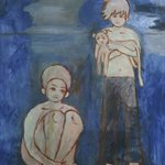 Wen ling  xiao san and 54boy Oil on Canvas 190x140cm 2005