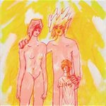 Wen Ling   Three People with Yellow Background     Oil on Canvas   50x50cm   2007