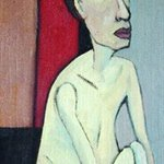 wang xiaolu  Woman's Body No.3 Oil on Canvas 100x30cm 2004