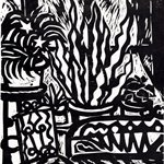 Song Yongping-window-1984-35.4x40.3cm-woodcuts