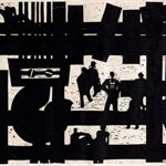 Song Yongping--Tianjin impression_small factory-1983-39.1x54.1cm-woodcuts
