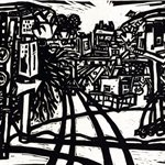 Song Yongping--Tianjin impression_construction site-1983-39x54.4cm-woodcuts