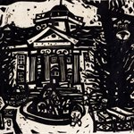 Song Yongping-Tianjin impression_campuse-1983-39x54.5cm-woodcuts