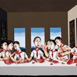 Zeng Fanzhi-the last supper-2002-120x64cm-silkscreen print