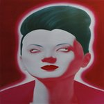 Chinese Portrait Series No.7 Feng Zhengjie Oil on Canvas 150x150cm 2007