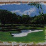Golf  Qin Qi Oil on Canvas 180x220cm 2004