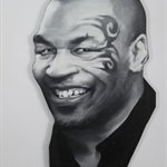 姚朋 没有比这更好的事- 30x40cm 布面油画 2015Yao Peng Nothing Better- Mike Tyson 30x40cm Oil on Canvas 2015 w